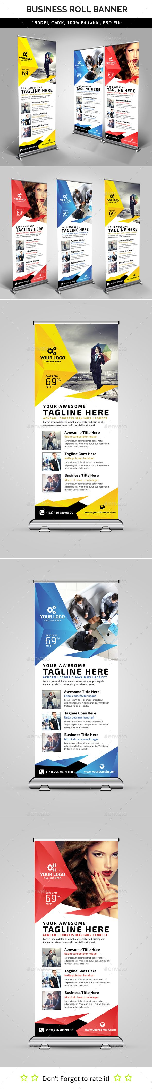 Multipurpose Roll Up Banner Template PSD. Download here: graphicprime.com/...