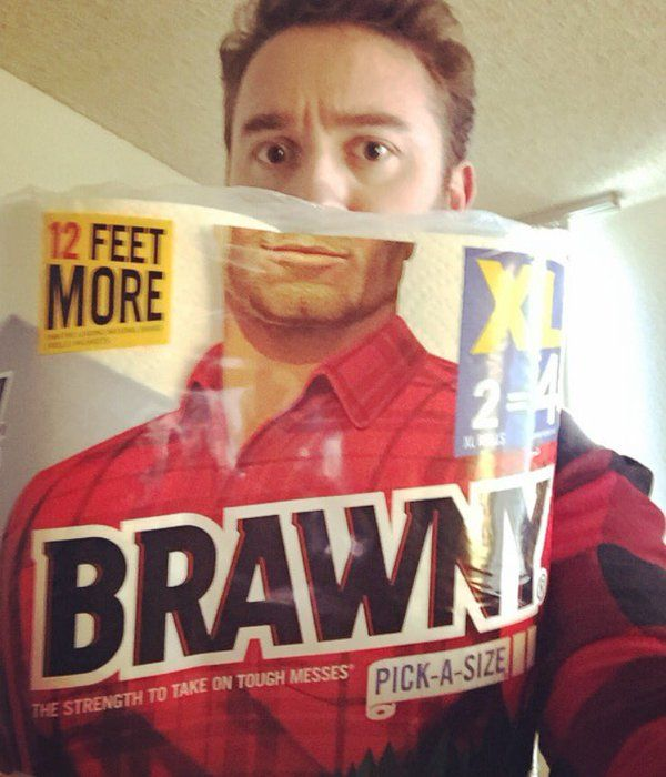 By the angel... he's the BRAWNY man 0.0