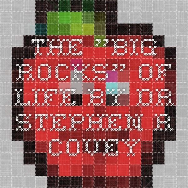 "The ""Big Rocks"" of Life by Dr. Stephen R. Covey"
