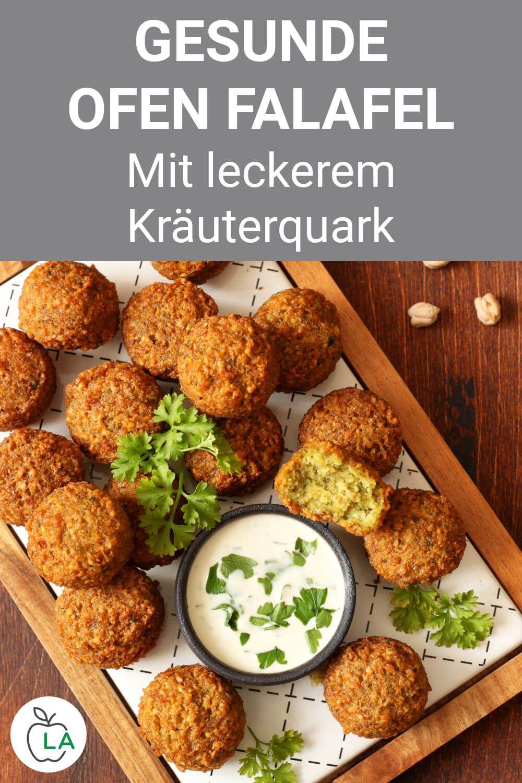 Gesunde Ofen Falafel mit Kräuterquark – Fitness Rezept zum Abnehmen