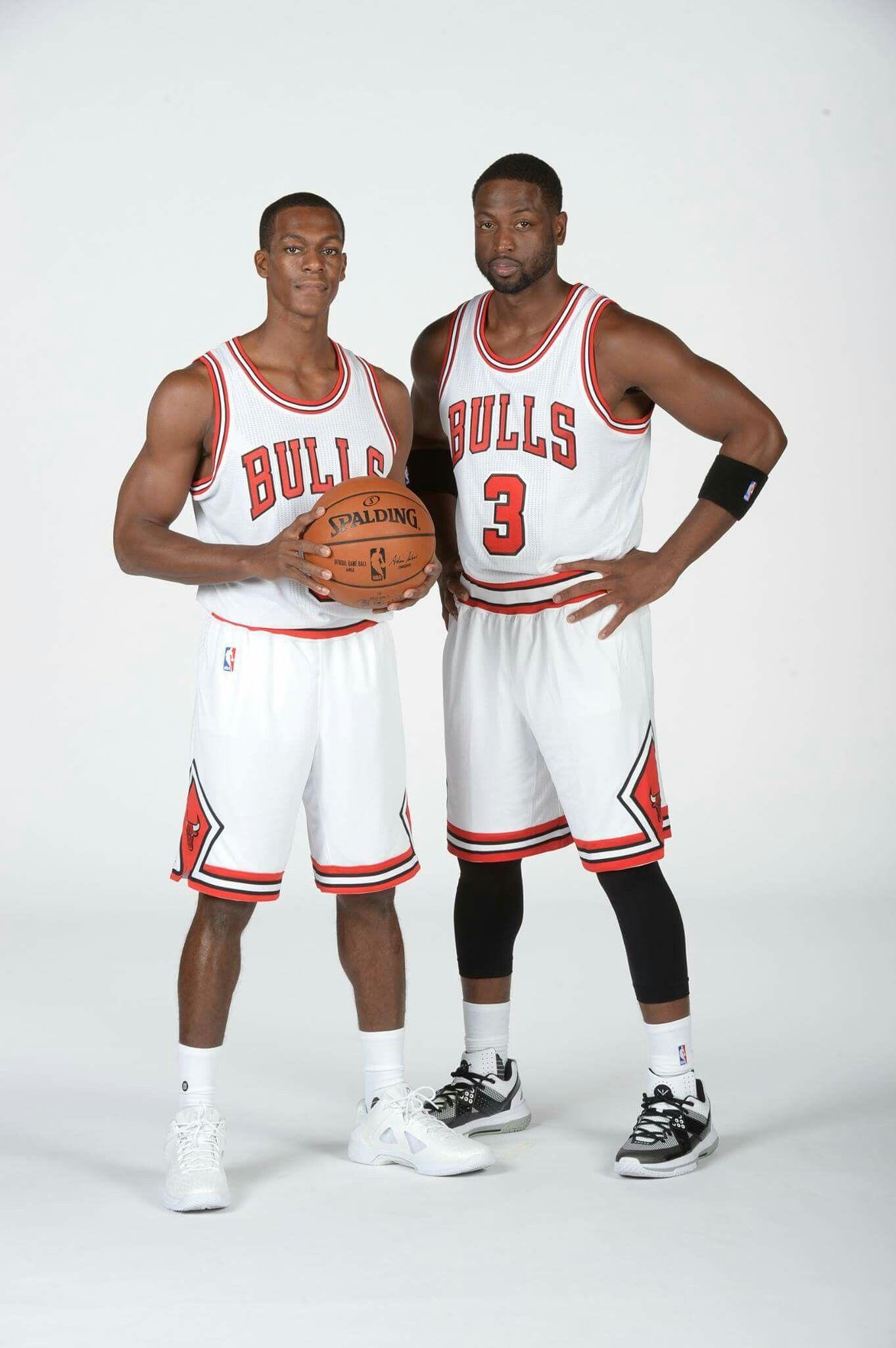 bd400866ba8f Veteran NBA champions and Chicago Bulls backcourt Rajon Rondo and Dwyane  Wade