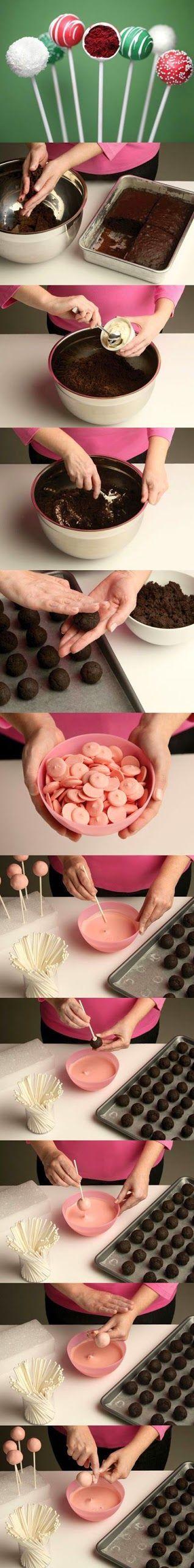 Faa a voc mesma 22 doces para festa infantil Cake pop Food
