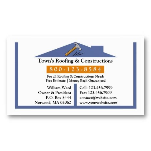 Roofing Construction Business Card Zazzle Com Construction Business Cards Roofing Construction Business