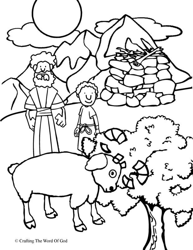 Abraham Offers Isaac Coloring Page Sunday School Coloring Pages