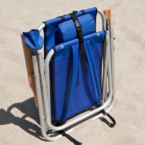 Rio Wearever Steel Hi Back Backpack Beach Chair Backpack Beach