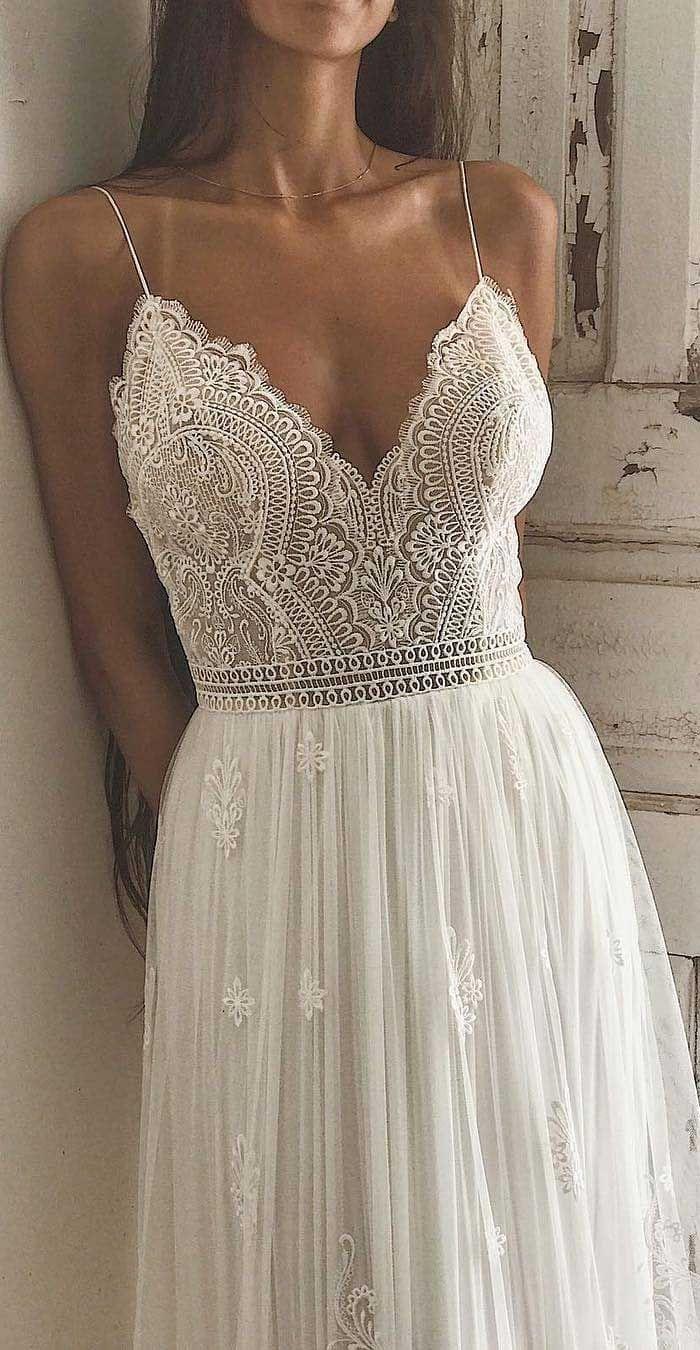 Photo of #boho wedding 14 Charming wedding dresses to fall in love # boho #charming #dresse …