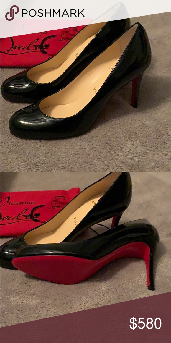 buy online ac740 be0b6 Christian LouBoutin Simple Pump (black & Red) Brand new ...