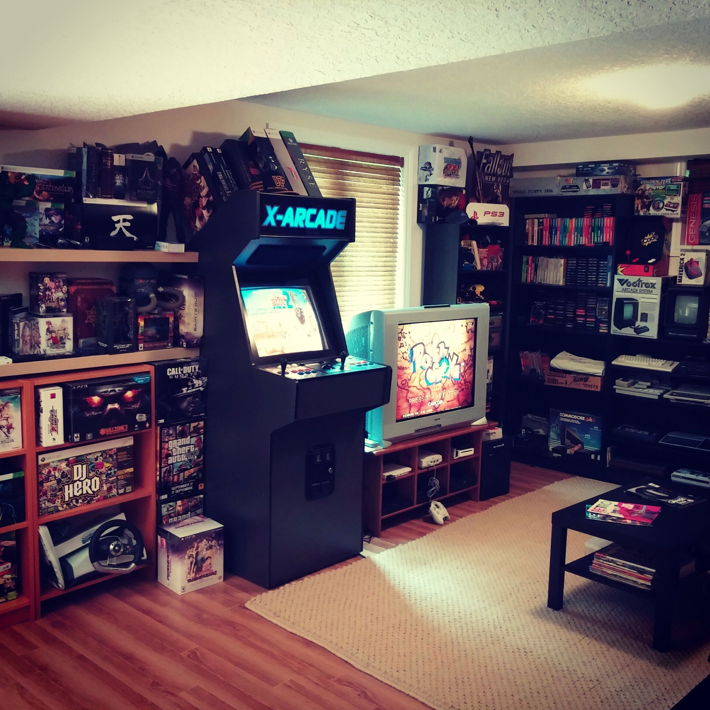 The Retro Gaming Area Of The Game Room Video Game Collection
