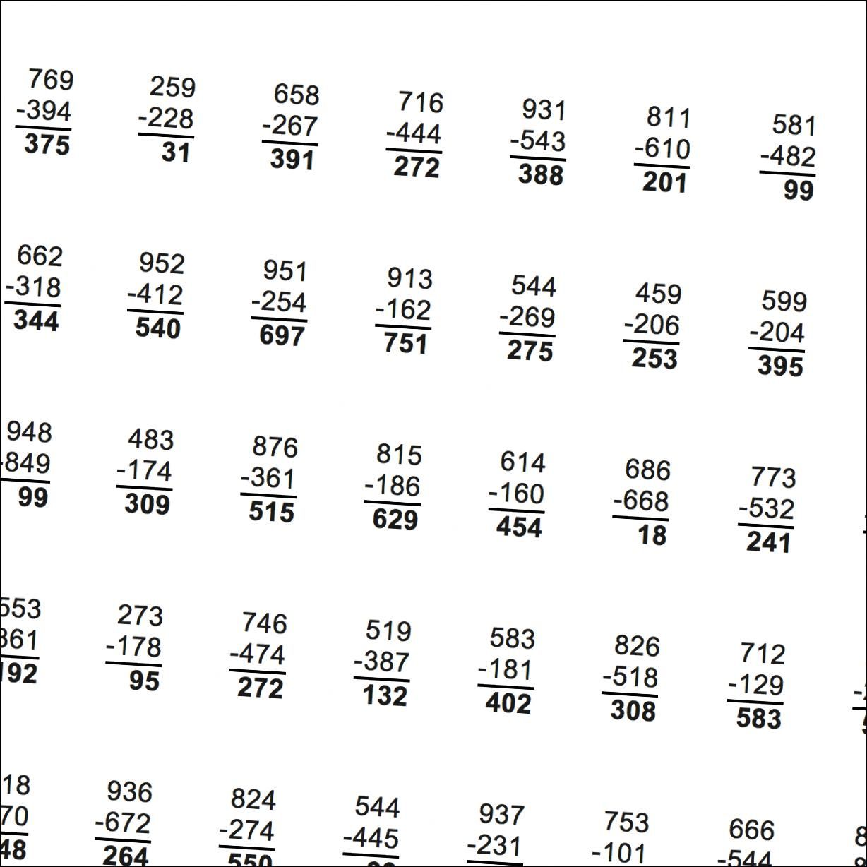 Just getting started with regrouping These multidigit – Multi Digit Subtraction Worksheets
