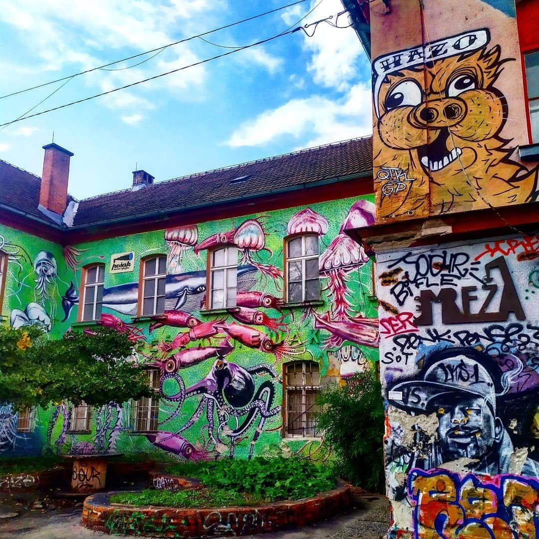 Is graffiti an art or a crime? Metelkova Ljubljana...   Metelkova Ljubljana