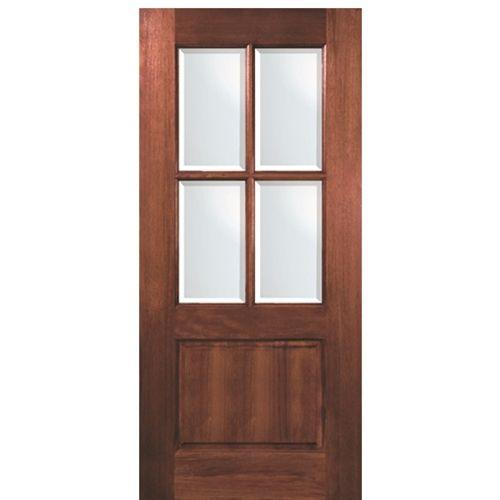 Tdl Mah 4 Lite 68 Mahogany Exterior Doors Exterior Doors Wood Front Entry Doors