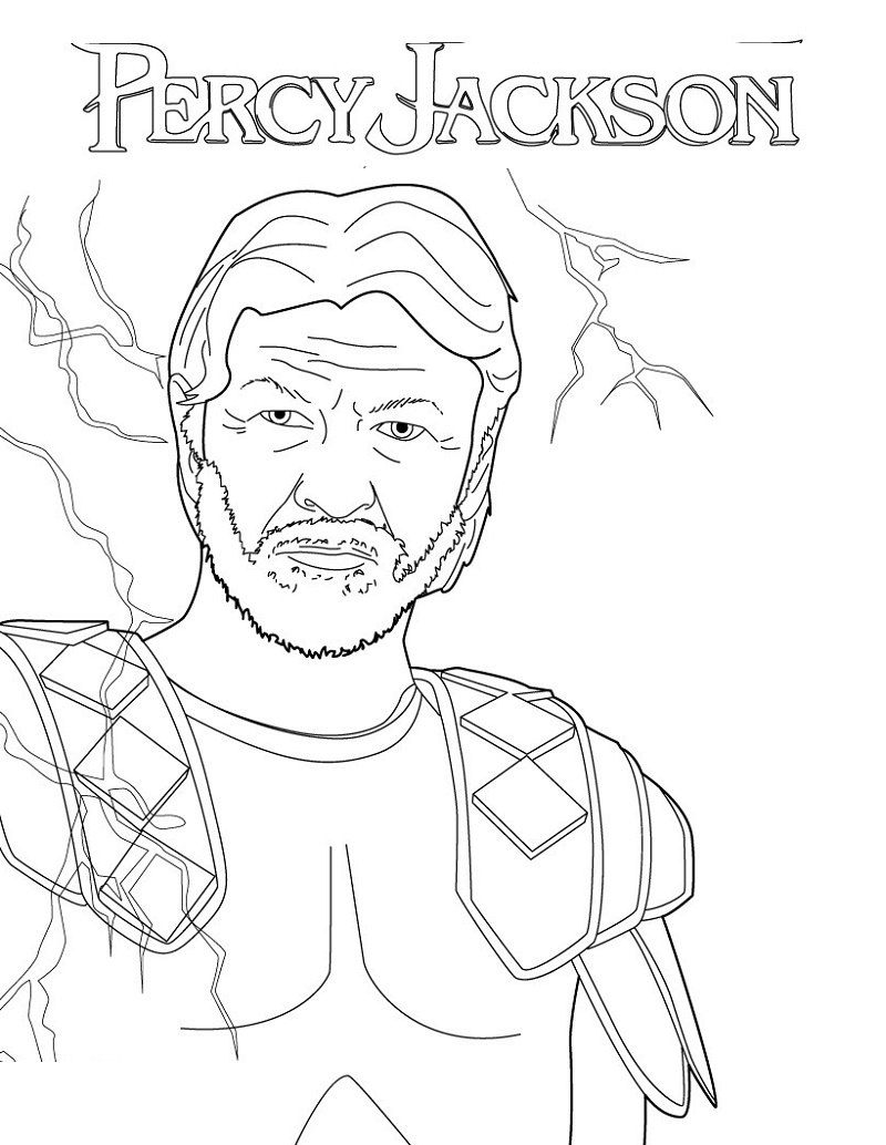 Percy Jackson Coloring Pages Zeus Coloring Books Percy Jackson Coloring Pages