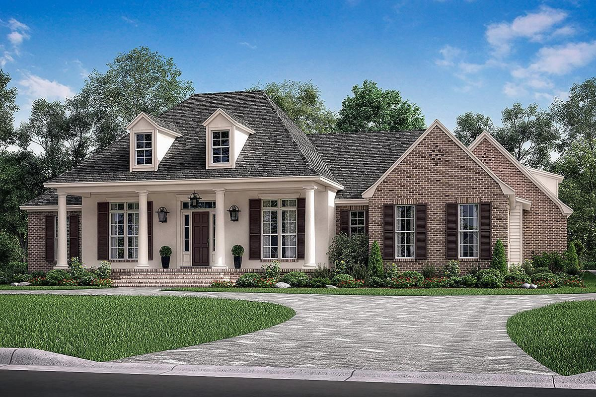 House Plan 041 00175 French Country Plan 2 566 Square Feet 3 4 Bedrooms 2 5 Bathrooms French Country House Acadian House Plans Country Style House Plans