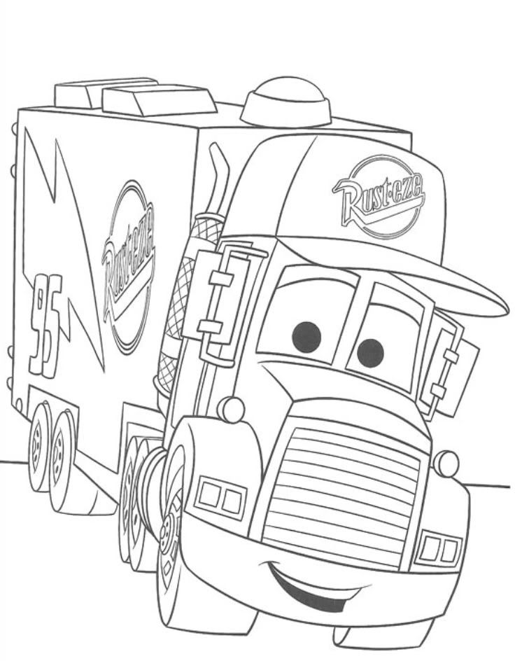 Cars movie coloring pages Free