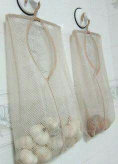 Mesh Laundry Bag Produce Storage Diy Kitchen Storage Produce
