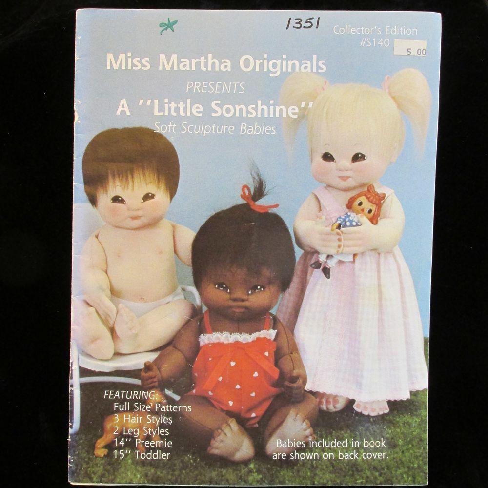 Miss Martha Originals-A LITTLE SONSHINE-Soft Sculpture Babies ...