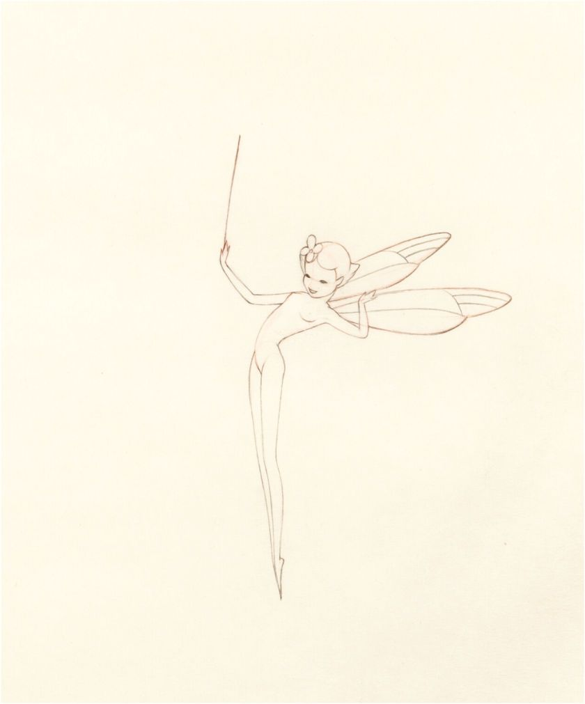 original disney production drawing of a sugar plum fairy from
