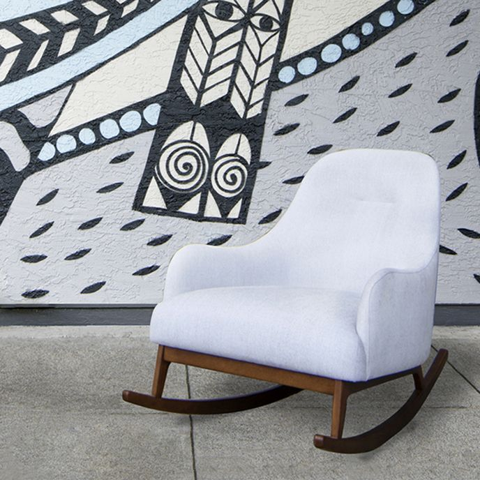 Embrace Coconut White Rocking Chair Div Chair Rocking Chair