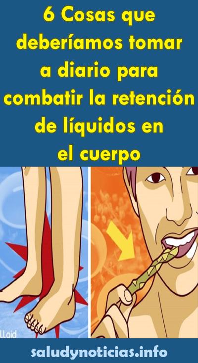 remedio natural para retencion de liquidos en el cuerpo