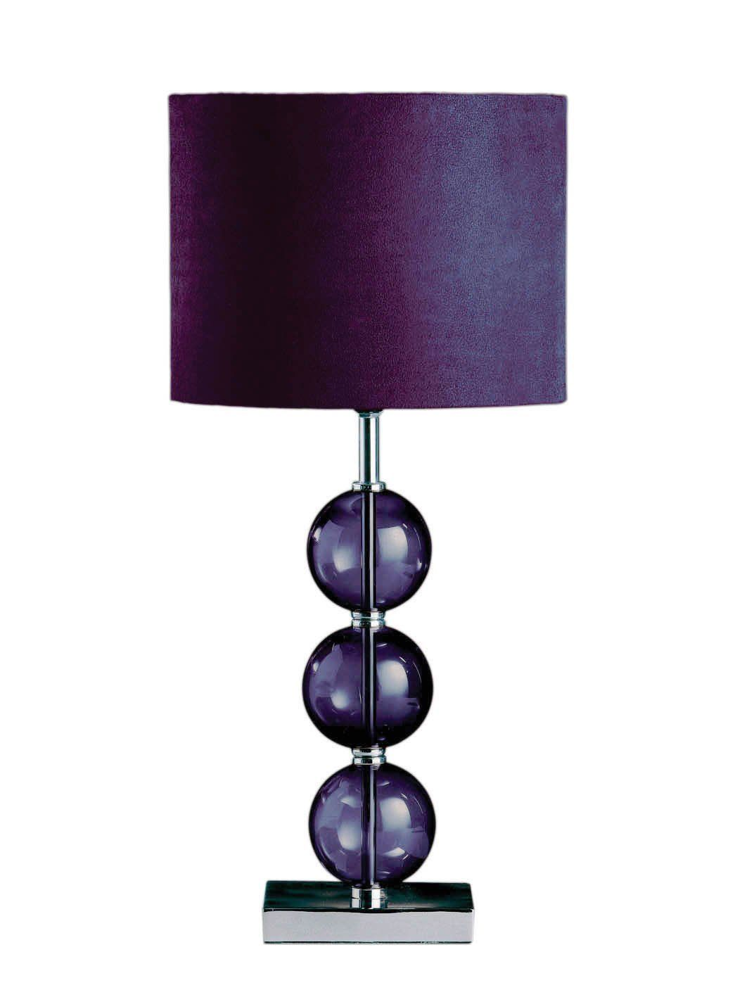 Purple Table Lamp Classy Premier Housewares Mistro Purple Table Lamp With 3 Glass Balls Inspiration Design