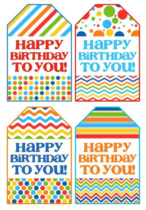 graphic regarding Free Printable Birthday Tags titled Birthday Present within a Jar Get together Programs Cost-free printable