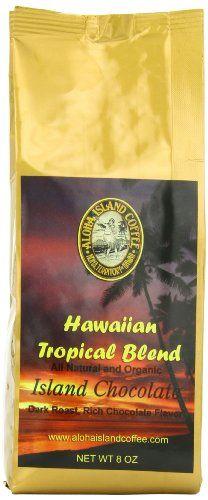 Aloha Island Coffee Chocolate Organic Hawaiian Coffee Blend, Whole Bean, 8-ounce Packages (Pack of 2) - http://teacoffeestore.com/aloha-island-coffee-chocolate-organic-hawaiian-coffee-blend-whole-bean-8-ounce-packages-pack-of-2/