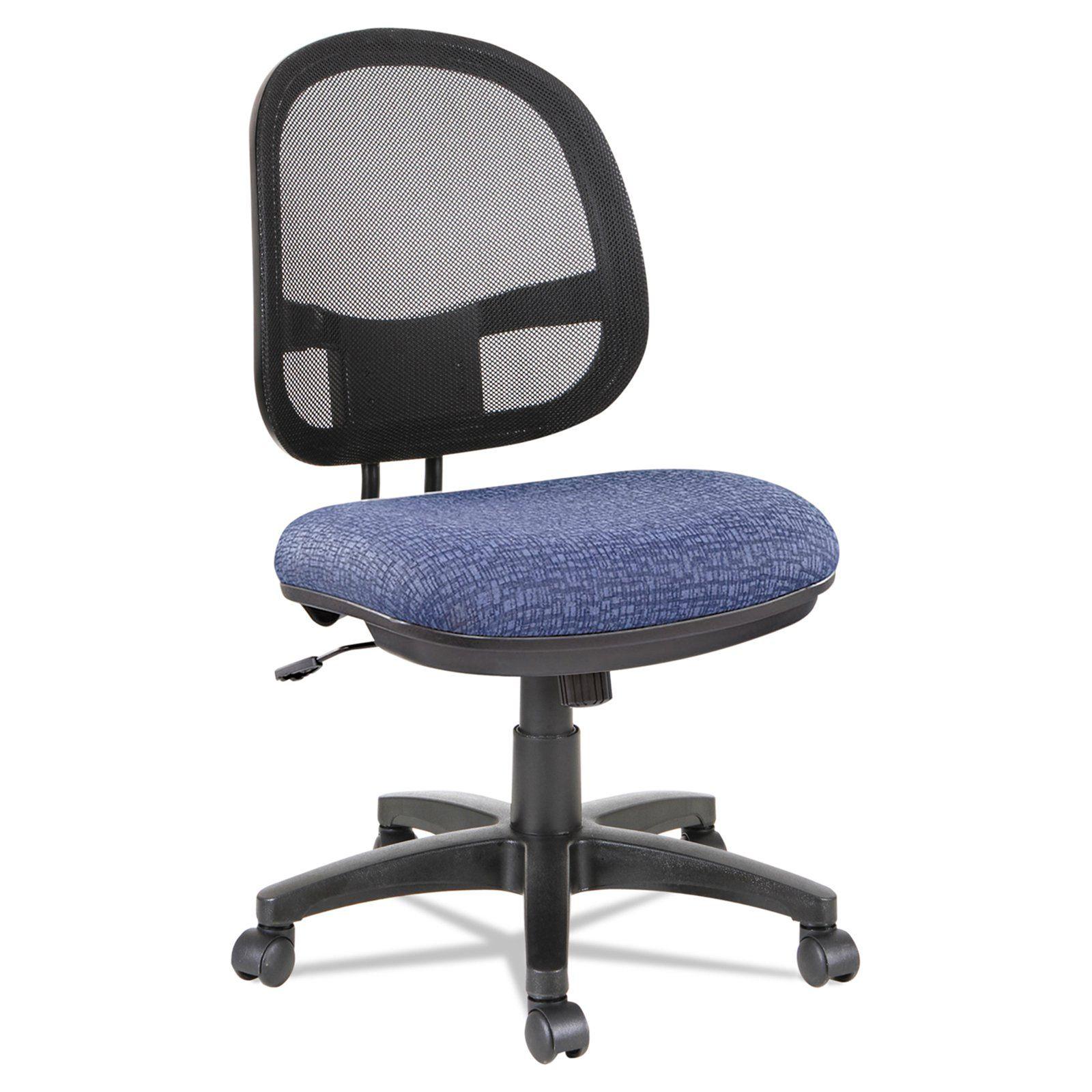 Alera Interval Series Swivel Tilt Mesh Chair Marine Blue Mesh