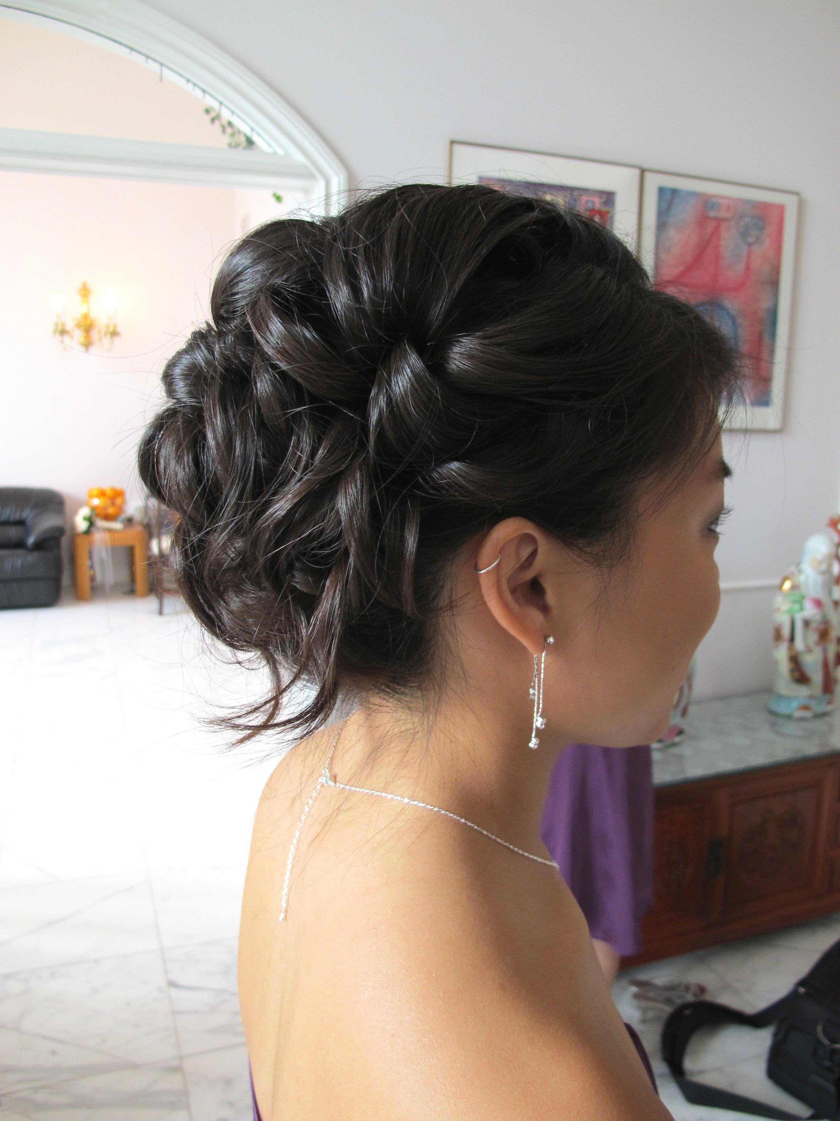 Soft bridesmaid updo puzzlecreations beauty pinterest
