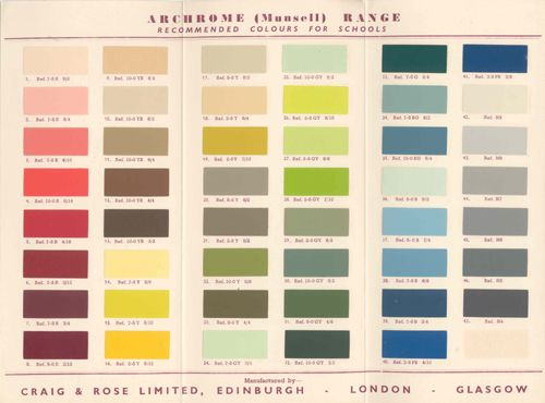 After world war ii new schools near london were decked for Oriental colour palette