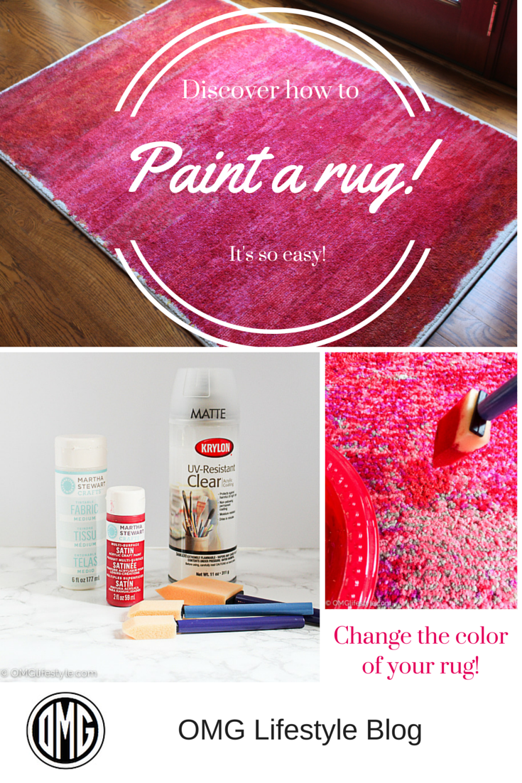 Did You Know You Can Paint A Rug Omg Lifestyle Blog Painted Rug Rugs Diy Rug