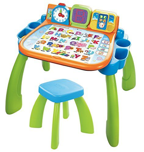 Learn And Create With The Touch Learn Activity Desk By Vtech The Desk Features An Interactive Best Christmas Toys Best Educational Toys Learning Activities