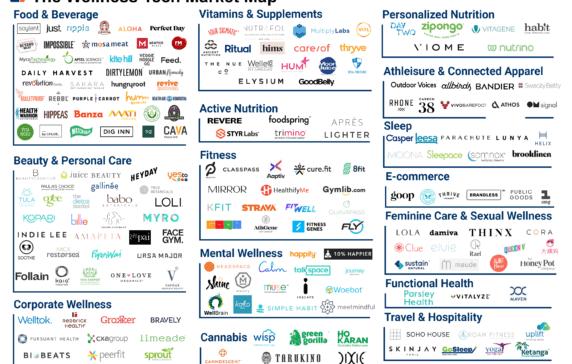 Mapping Of Wellness Tech Startups Wellness Industry Fitness Marketing Wellness Fitness