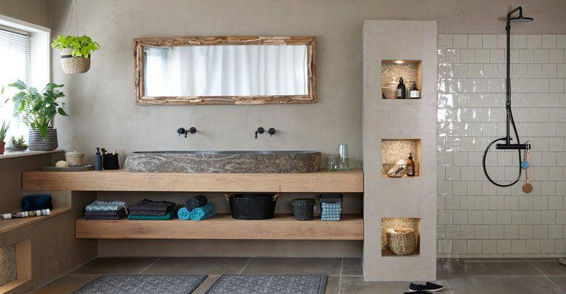 Interieur Natuur Badkamer : Natuurlijke elementen geven uw badkamer een pure schoonheid haal