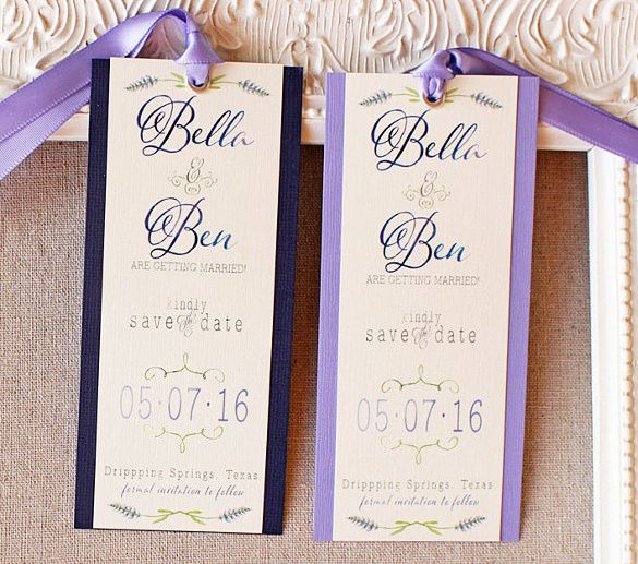 21 Save The Date Bookmark Templates Free Sample Example Format