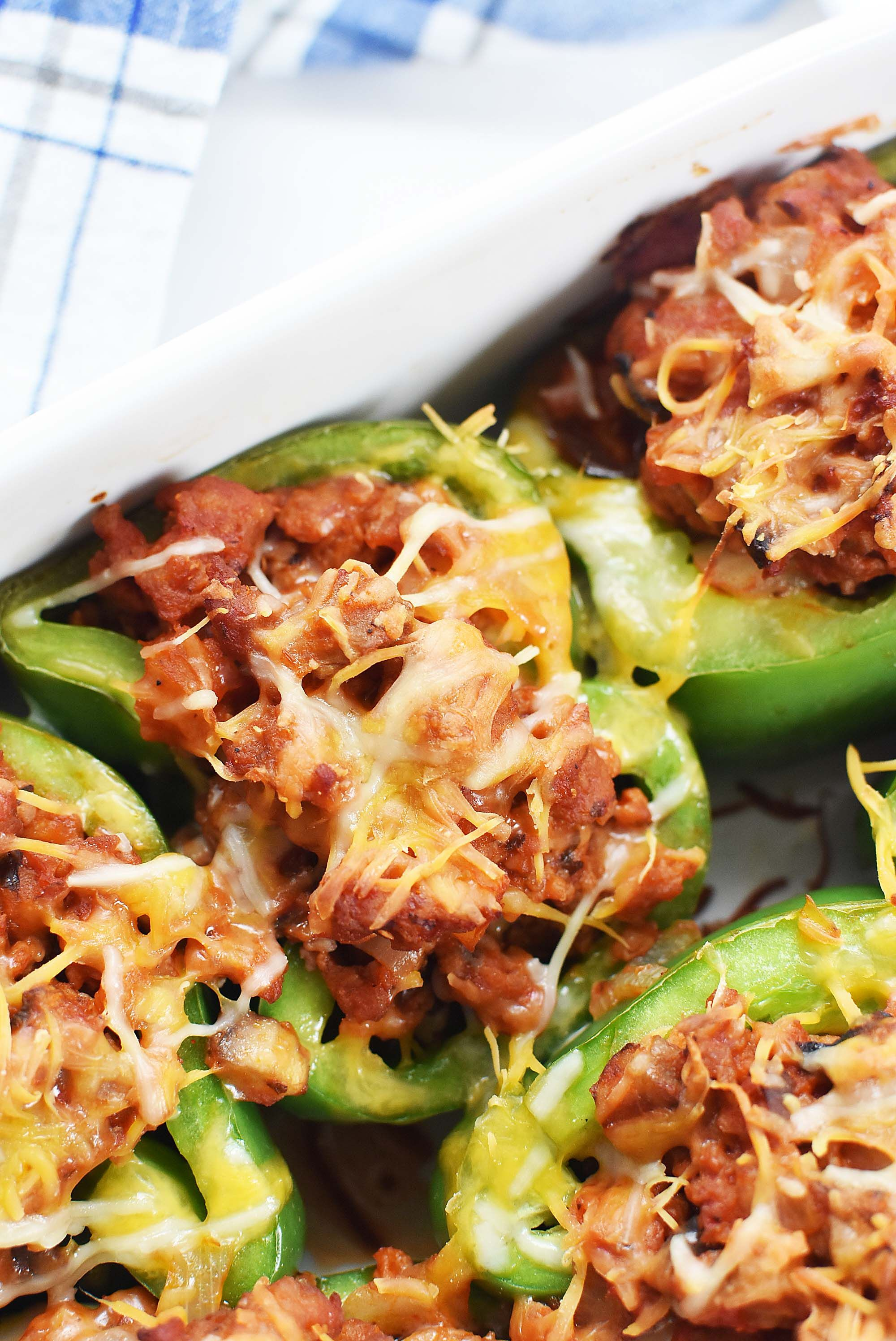 Low Carb Sausage Stuffed Peppers Recipe Stuffed Peppers Hot Italian Sausage Recipes Healthy Sausage Recipes