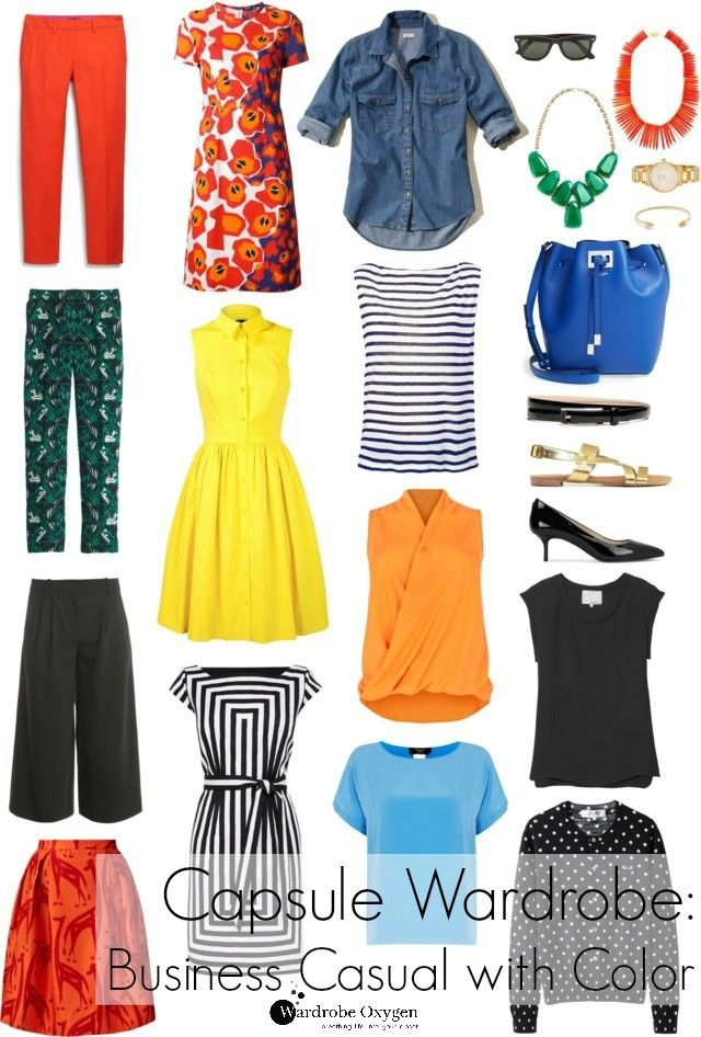 Summer capsule wardrobe - Business casual with color and personality, perfect for teachers! By Wardrobe