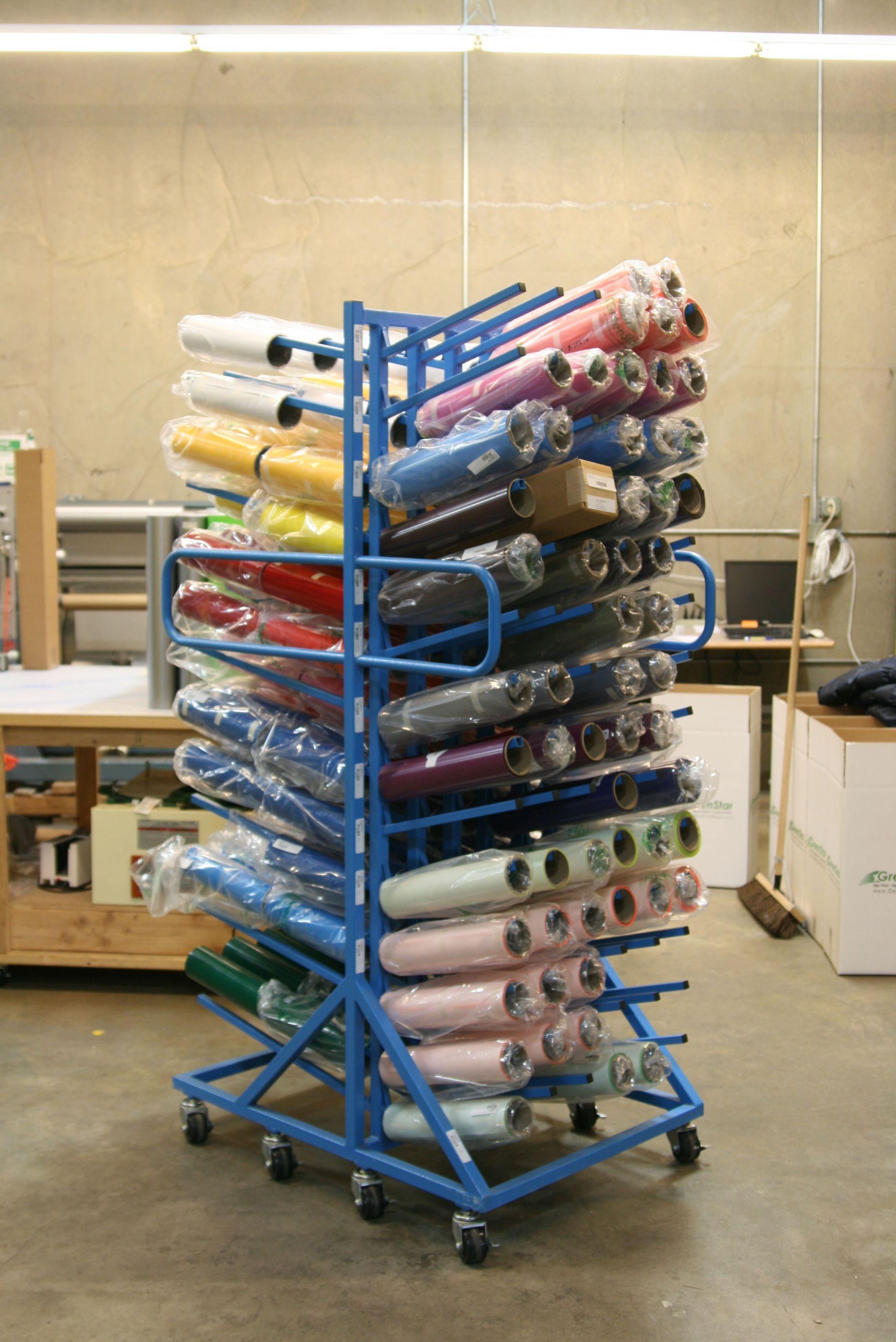 crafty storage is lovely all rolls and ideas with roll this cupboard vinyl rack tidy labels