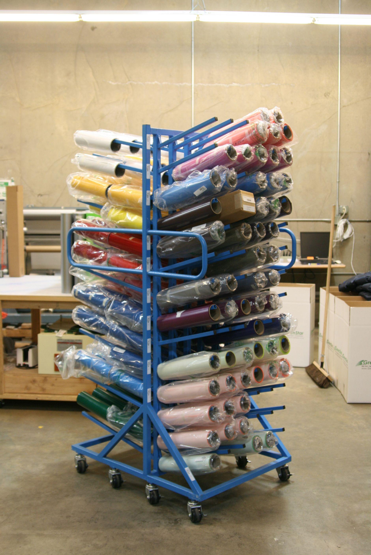 vinyl cutter storage rack vinyl roll