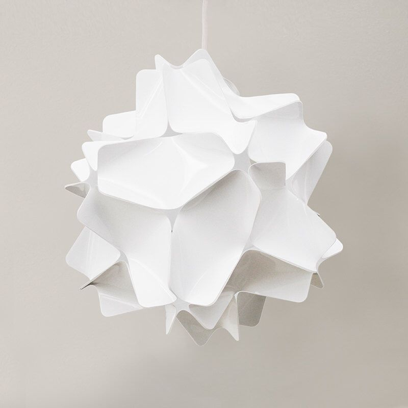 White geometric sphere lampshade Plastic lamp shade