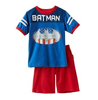 Batman® Boys' 2T-7 2 Piece Batman Americana Shorts Set