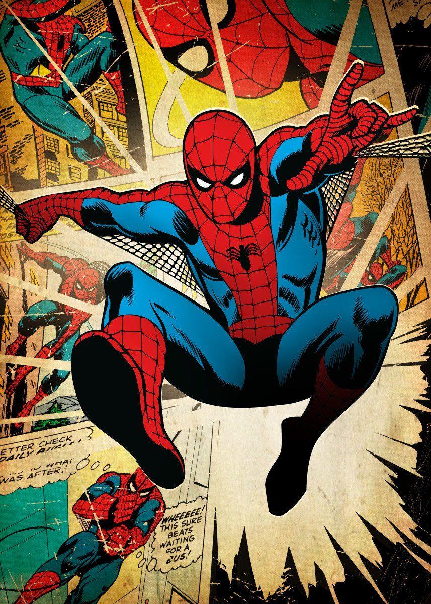 'Spider-Man' Metal Poster - Marvel | Displate in 2020 ...