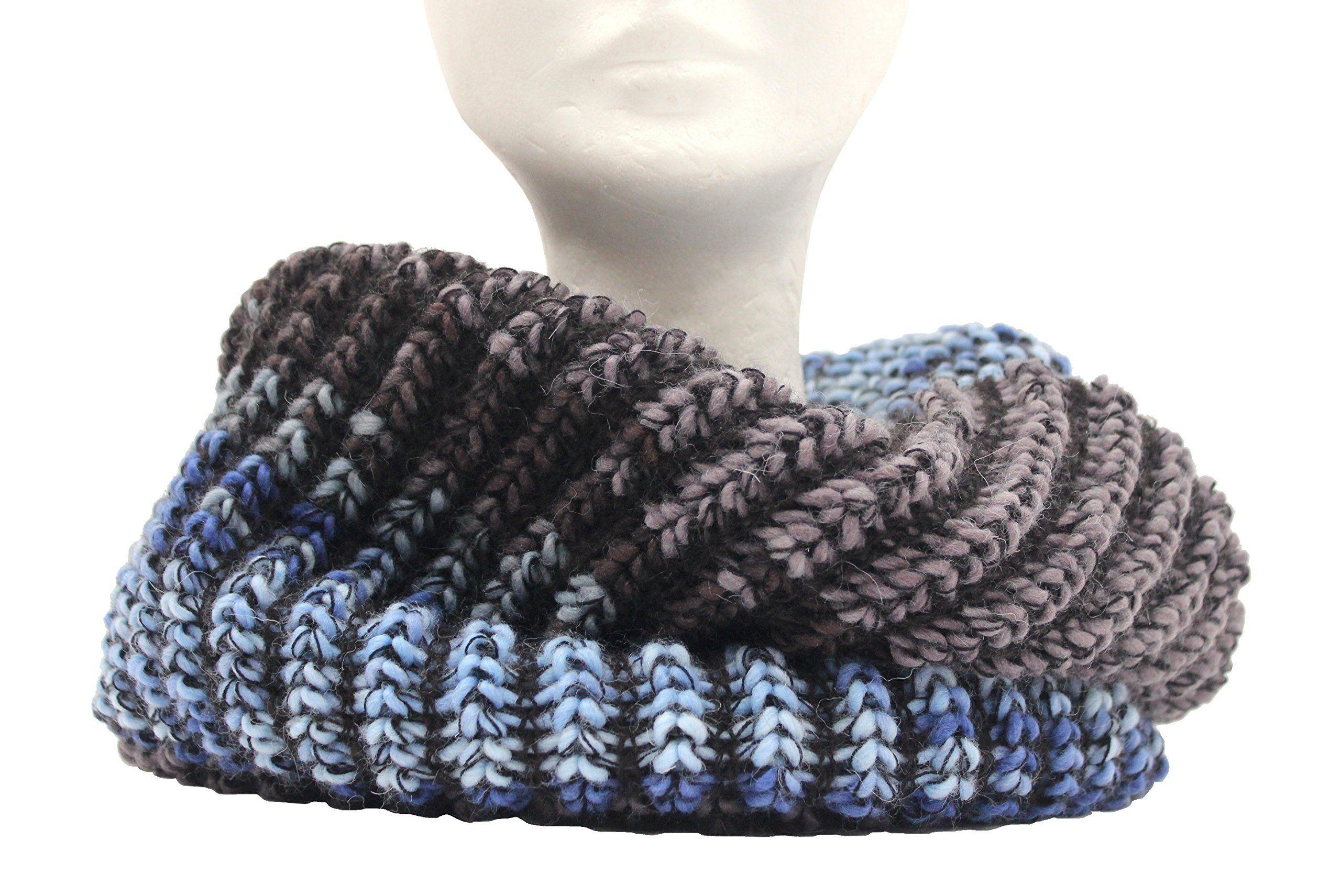 nuovo prodotto 15c99 81fa6 Scaldacollo in maglia, sciarpa ad anello unisex stampato col ...