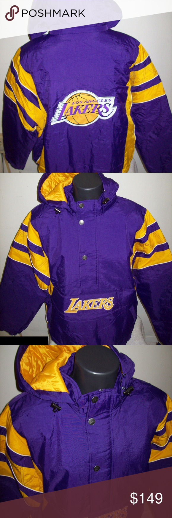 Los Angeles La Lakers Starter Half Zip Jacket Boutique Half Zip Zip Jackets Jackets