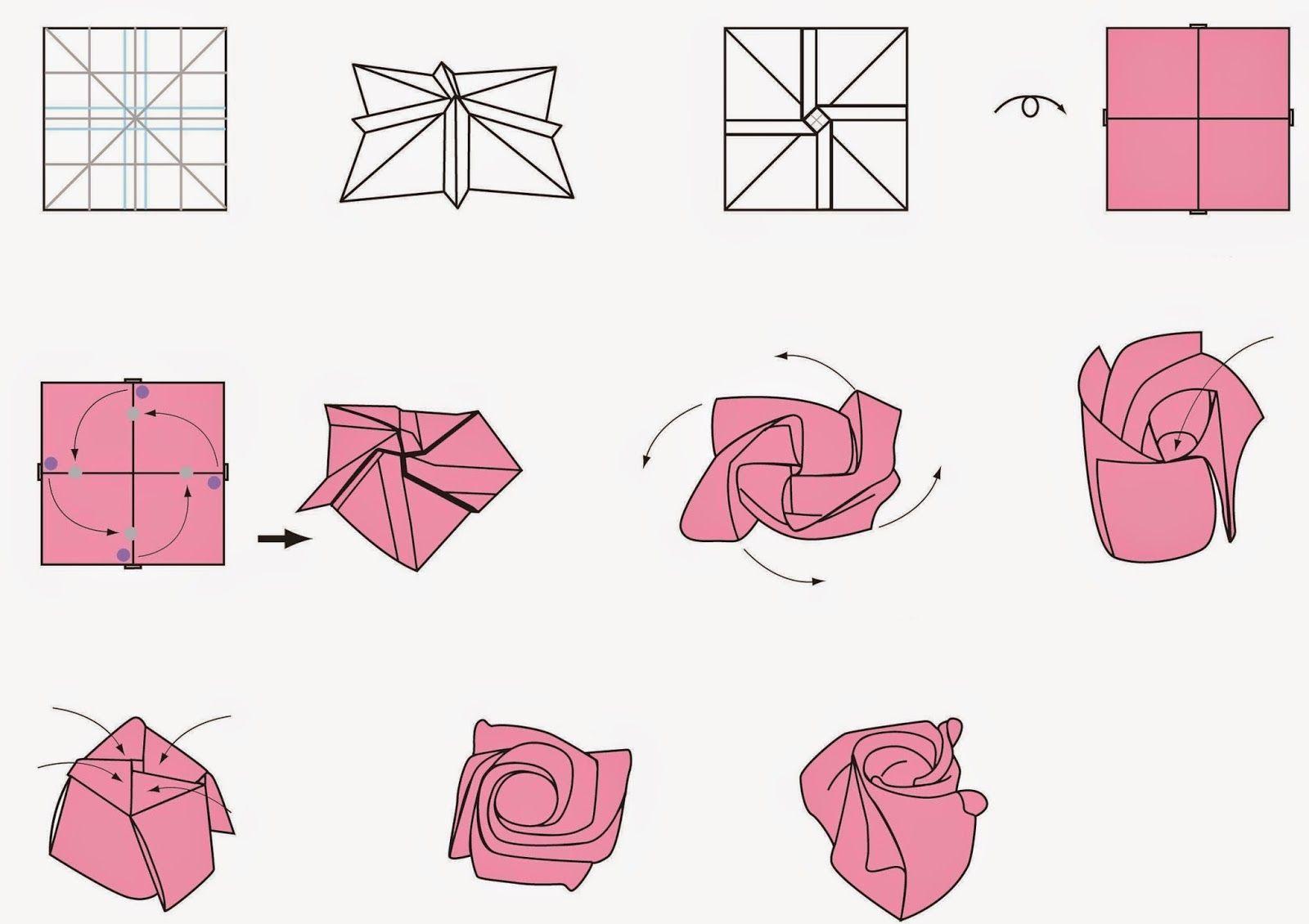 Free Printable Cards: Free Printable Origami Rose ... - photo#9