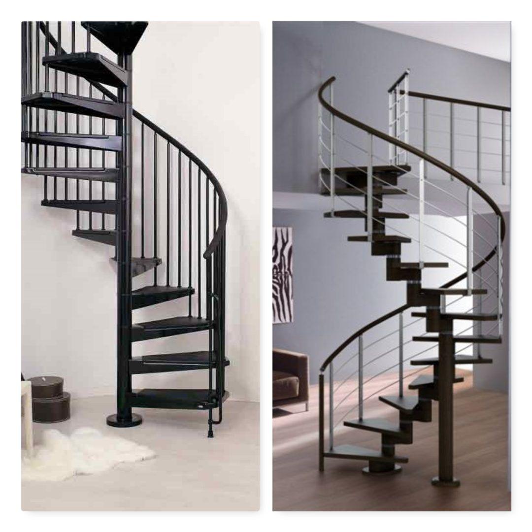 Diferencia Entre Escalera Helicoidal Y Escalera Caracol Escaleras De Aluminio Escalera Caracol Interior Escaleras