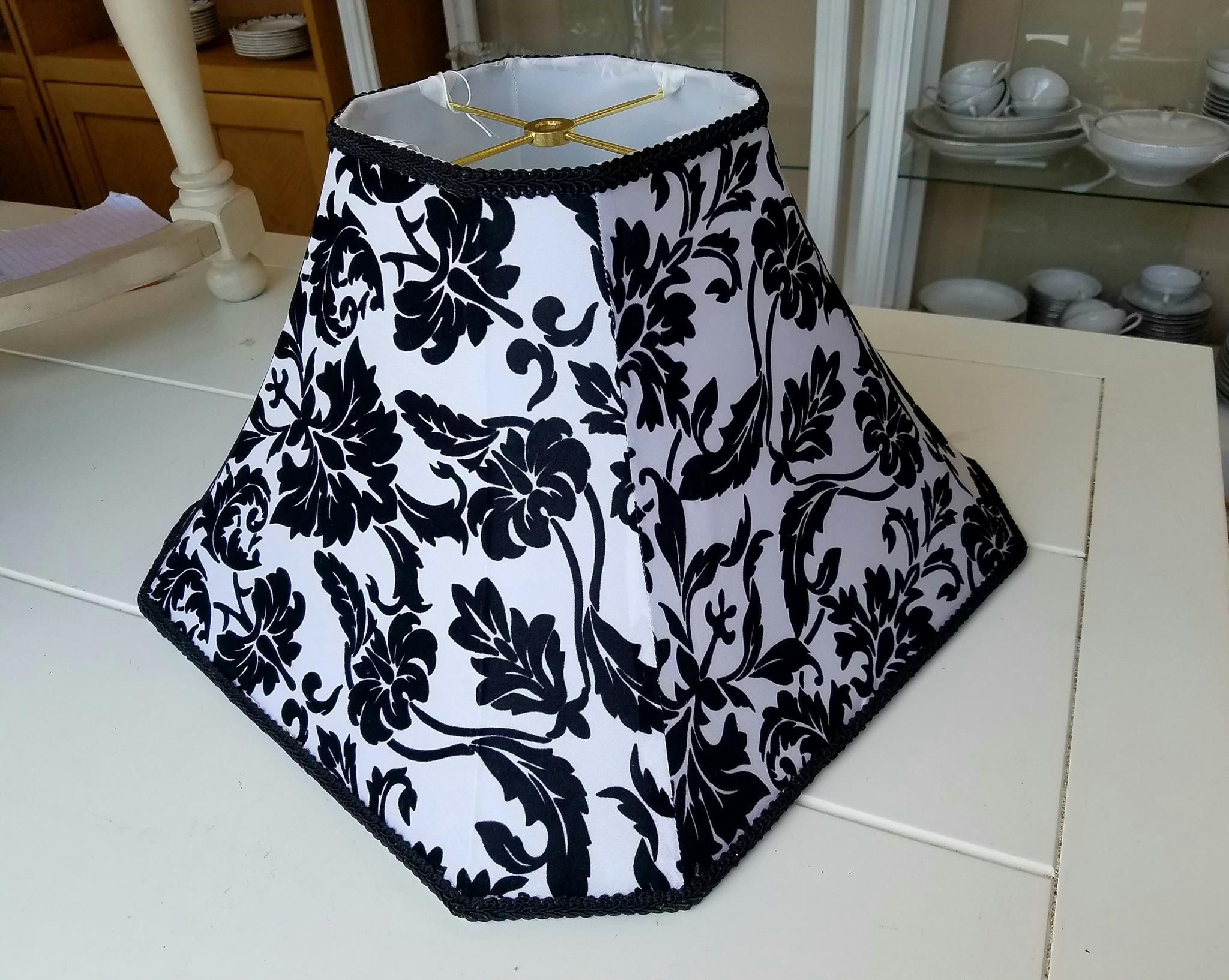 This Gorgeous Black And White Toile Lamp Shade Is Only 15