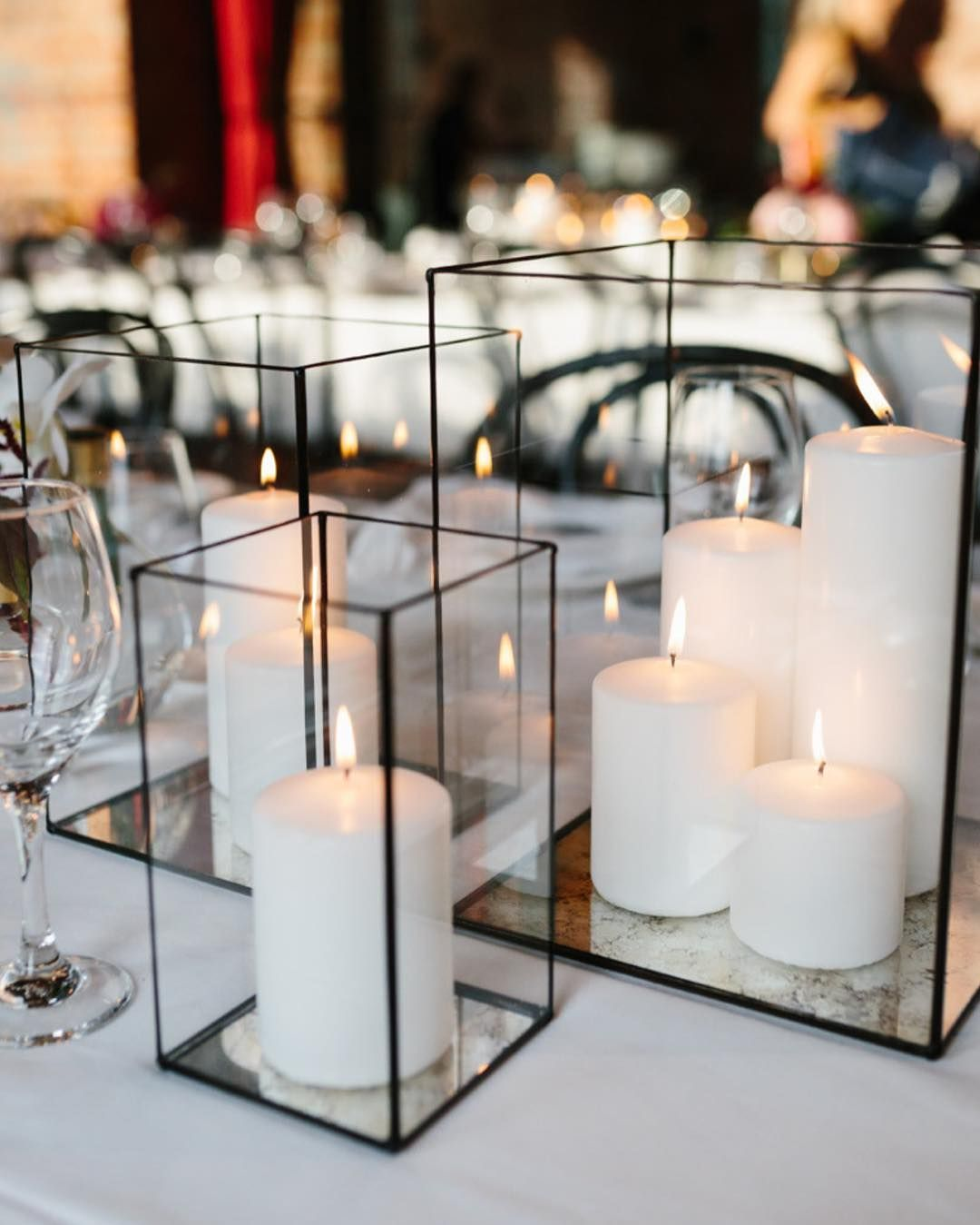 Multiple Candle Lantern Inspo Black Candles Too Our Black Lanterns We Re Handmade With An Candle Centerpieces Black Candle Wedding Black Candle Centerpieces