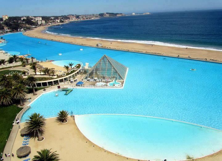 Largest Pool In Chile >> The Largest Pool In The World San Alfonso Del Mar Resort