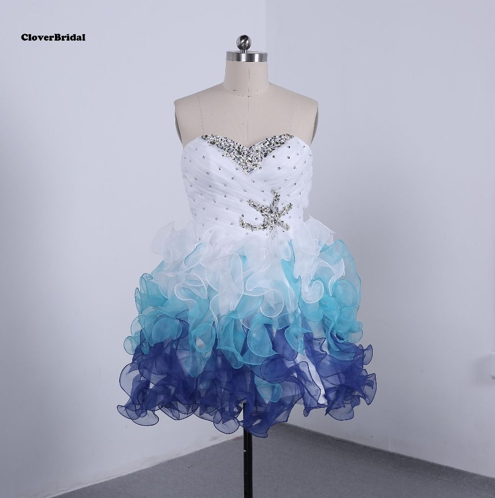 In stock fast shipping cheap colors whiteroyalsky blue cute short