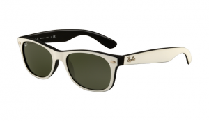 ray ban rb2132 wayfarer sunglasses parchment frame crystal green